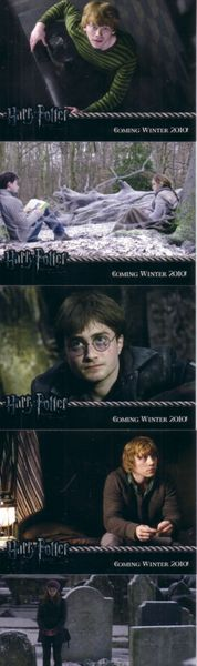 Harry Potter and the Deathly Hallows ArtBox complete 5 promo card set RARE