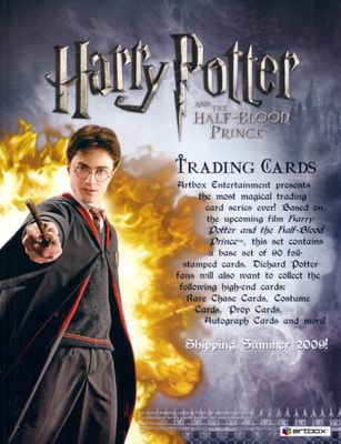 Harry Potter and the Half-Blood Prince 2009 ArtBox card promo 8 1/2 by 11 sell sheet