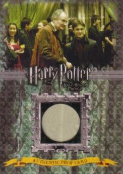 Harry Potter & the Half-Blood Prince prop card P6 Slughorn's Drapes #/330