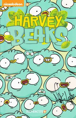 Harvey Beaks autographed 2015 and 2016 Comic-Con Nickelodeon mini promo comic book set
