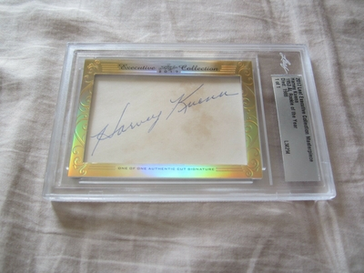 Harvey Kuenn 2017 Leaf Masterpiece Cut Signature certified autograph card 1/1 JSA