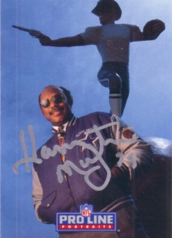 Harvey Martin autographed Dallas Cowboys 1993 Pro Line card