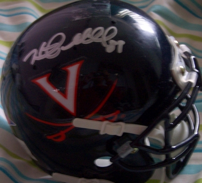 Heath Miller autographed Virginia Cavaliers mini helmet