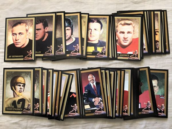 Heisman Trophy winner collection 1991 1992 1993 College Classics complete set of 58 cards