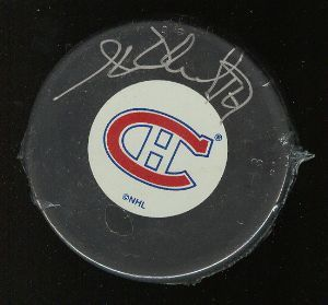Henri Richard autographed Montreal Canadiens puck