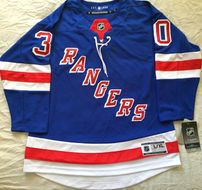 Henrik Lundqvist New York Rangers authentic NHL stitched blue youth L/XL jersey NEW WITH TAGS