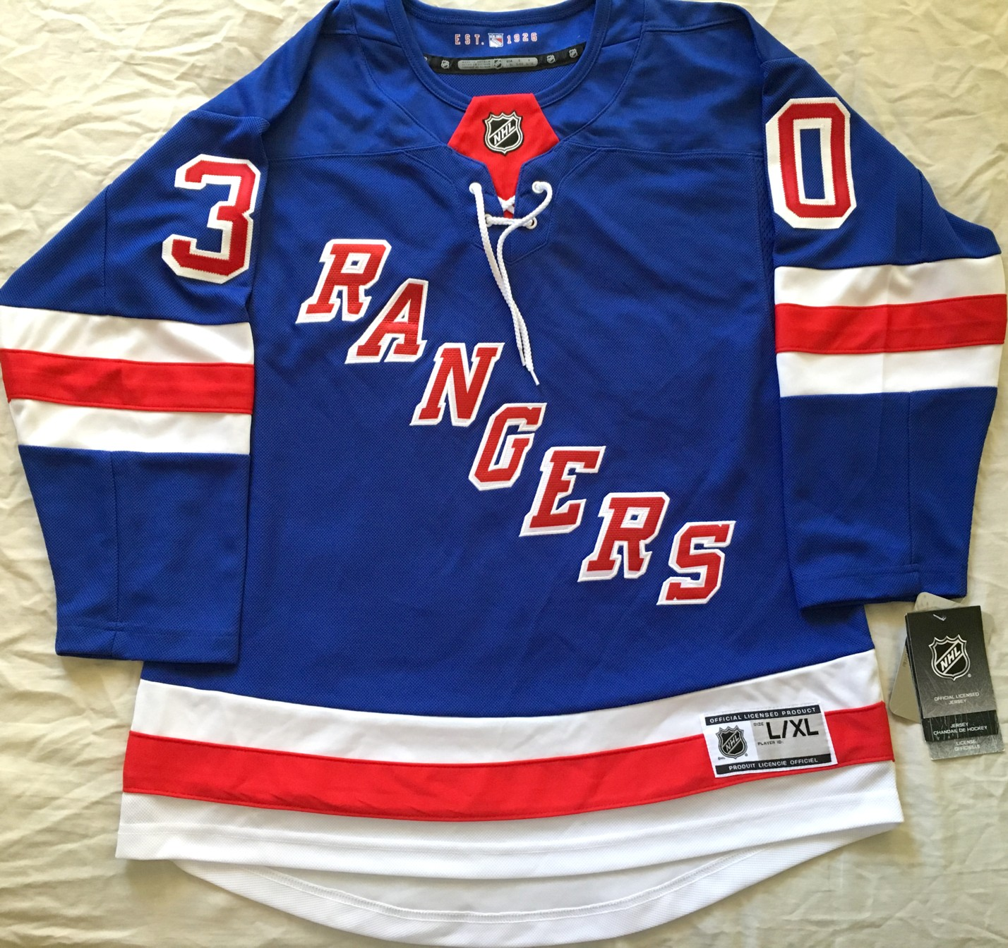 best service 02ed9 2120f Henrik Lundqvist New York Rangers authentic NHL stitched ...