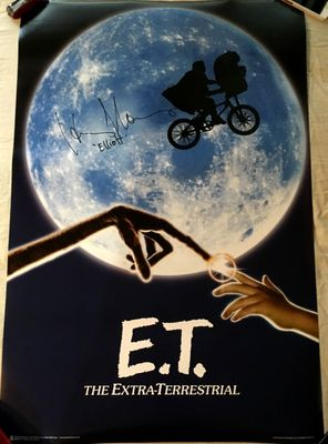 Henry Thomas autographed E.T. 24x36 inch movie poster inscribed Elliott