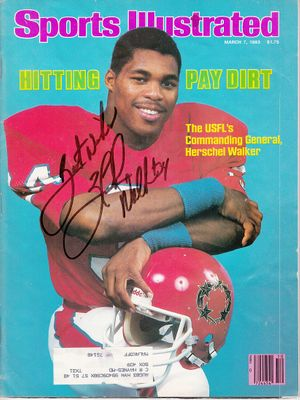 Herschel Walker autographed 1983 Sports Illustrated inscribed Best Wishes