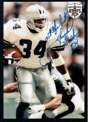 Herschel Walker autographed Dallas Cowboys 5x7 photo card inscribed All the Best