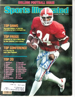 Herschel Walker autographed Georgia Bulldogs 1981 Sports Illustrated inscribed Best of luck