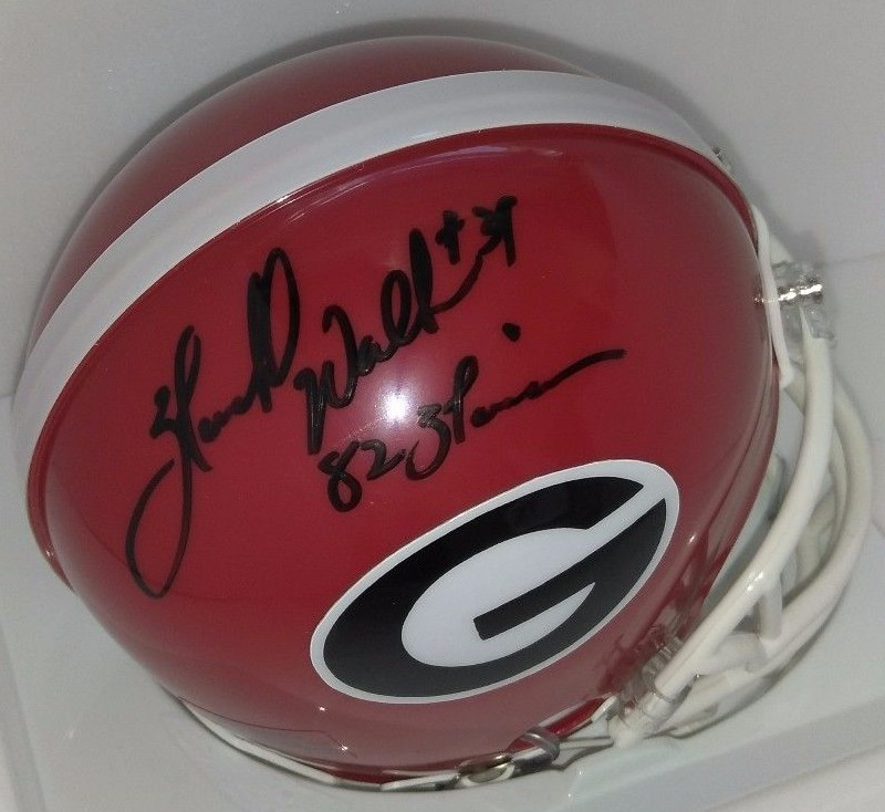a202ac1e7 Herschel Walker autographed Georgia Bulldogs mini helmet inscribed 82  Heisman
