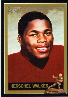 Herschel Walker Georgia 1982 Heisman Trophy winner card