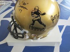 Herschel Walker Joe Bellino Billy Cannon autographed Heisman Trophy logo authentic mini helmet (TriStar)