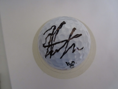 Hideki Matsuyama autographed 2014 Farmers Insurance Open tournament used Srixon golf ball