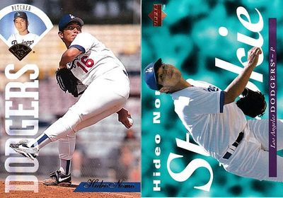 Hideo Nomo Los Angeles Dodgers 1995 Leaf and Upper Deck Rookie Card set