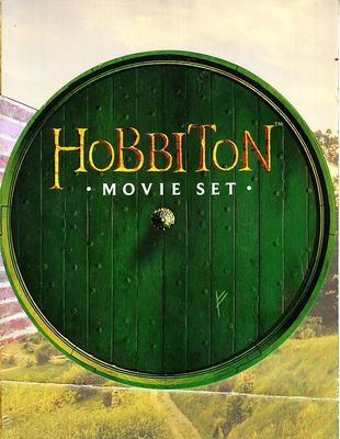Hobbiton movie set New Zealand souvenir map from Lord of the Rings & The Hobbit trilogies (damaged)
