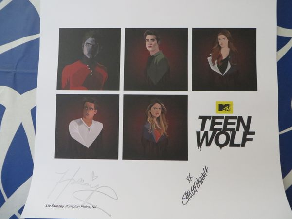 Shelley Hennig and Holland Roden autographed Teen Wolf 2015 Comic-Con lithograph or poster
