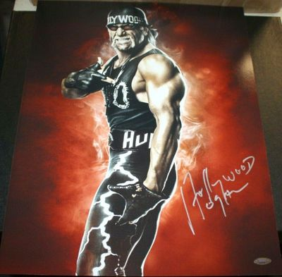 Hollywood (Hulk) Hogan autographed 16x20 poster size photo (TriStar)