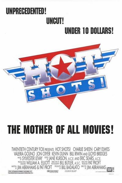Hot Shots full size 27x40 inch original double sided movie poster