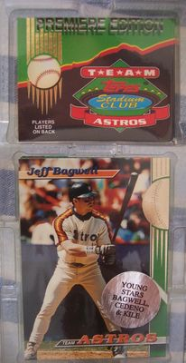 Houston Astros 1993 Stadium Club Team 30 card set (Jeff Bagwell Craig Biggio)
