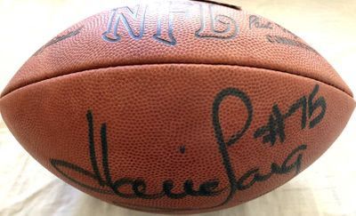 Howie Long autographed Wilson NFL leather game model football (JSA)