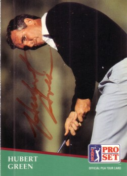 Hubert Green autographed 1991 Pro Set golf card