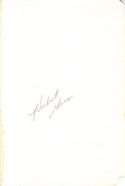 Hubert Green autographed 5x8 inch album page