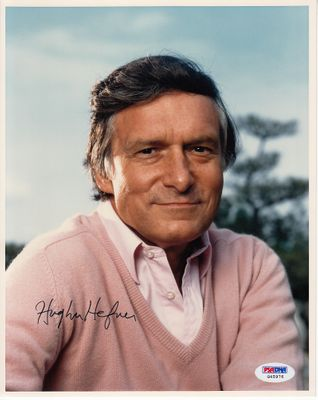 Hugh Hefner autographed 8x10 portrait photo (PSA/DNA)