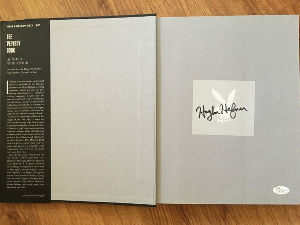 Hugh Hefner autographed The Playboy Book 40 Years The Complete Pictorial History (JSA LOA)