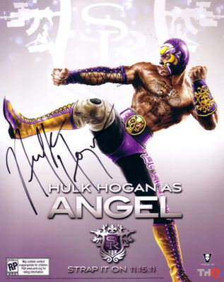 Hulk Hogan autographed Angel 8x10 2011 Comic-Con promo photo