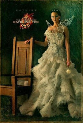 Hunger Games Catching Fire Katniss Portrait mini movie poster (Jennifer Lawrence)