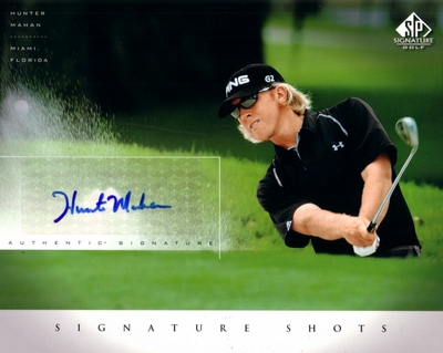 Hunter Mahan certified autograph 2004 SP Signature 8x10 photo card