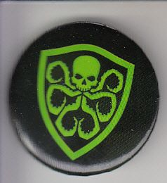 Hydra shield logo button or pin