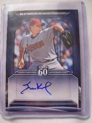 Ian Kennedy certified autograph Arizona Diamondbacks 2011 Topps card