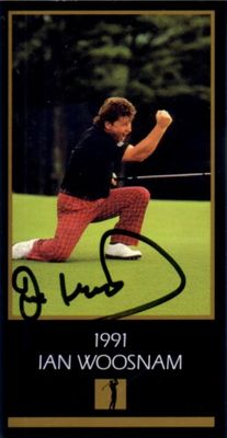 Ian Woosnam autographed 1991 Masters Champion golf card