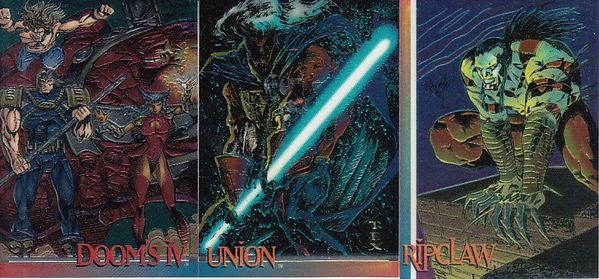 1993 Image Comics Wizard Series 3 lot of 3 different promo cards (Doom's IV Ripclaw Union)