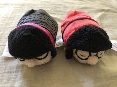 Incredibles 2 set of 2 Edna mini plush Disney Tsum Tsum toys NEW