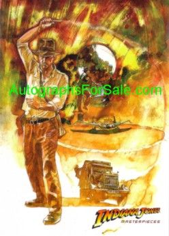 Indiana Jones Masterpieces Topps promo card P2