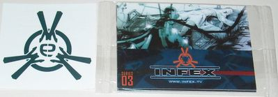 Infex 2012 Comic-Con promo card pack & temporary tattoo
