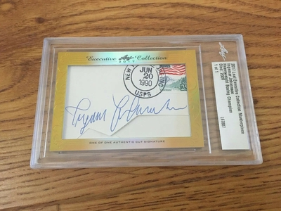 Ingemar Johansson 2017 Leaf Masterpiece Cut Signature certified autograph card boxing 1/1 JSA