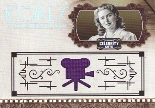 Ingrid Bergman worn clothing swatch 2008 Donruss Americana card #47/100
