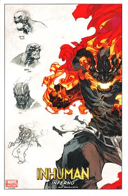 Inhuman Inferno Marvel Comics 2014 Comic-Con promo artwork print