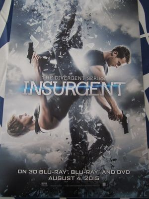 Insurgent Divergent 2015 mini movie poster (Theo James & Shailene Woodley)