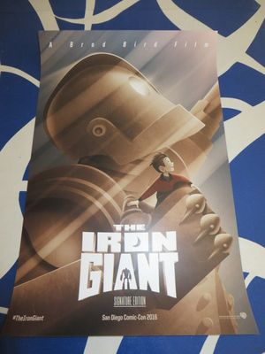 Iron Giant 2016 Comic-Con exclusive double sided 11x17 mini movie poster