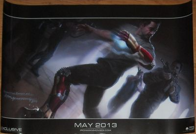 Iron Man 3 Marvel 2012 Comic-Con exclusive 13x20 promo artwork movie poster