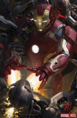 Iron Man Avengers 2 Age of Ultron 2014 Comic-Con exclusive promo Marvel movie poster