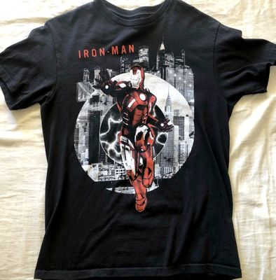 Iron Man Marvel black T-shirt