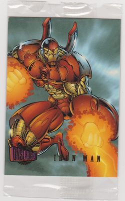 Iron Man Marvel Onslaught 1996 Fleer promo card #2