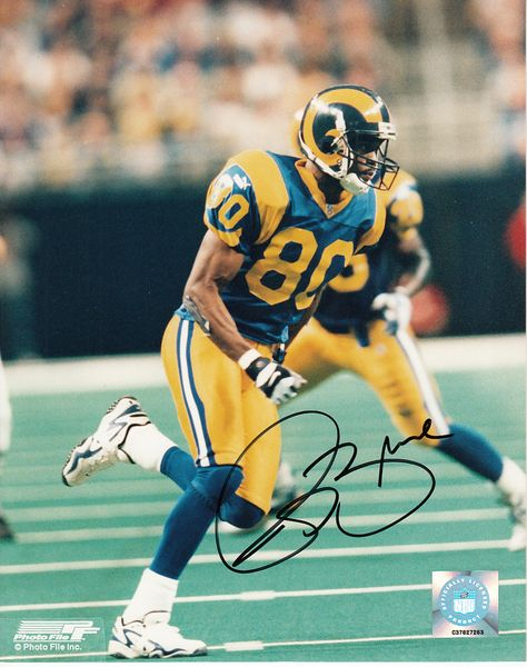 Isaac Bruce autographed St. Louis Rams 8x10 photo